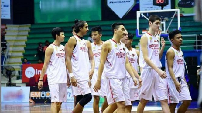 Tim basket muda Indonesia.