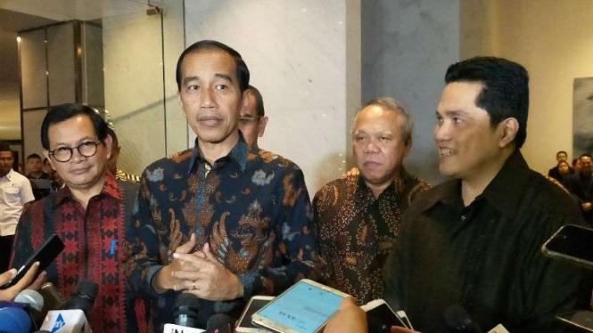Jokowi di Hotel Pullman Jakarta