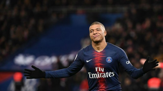 Striker muda Paris Saint-Germain, Kylian Mbappe