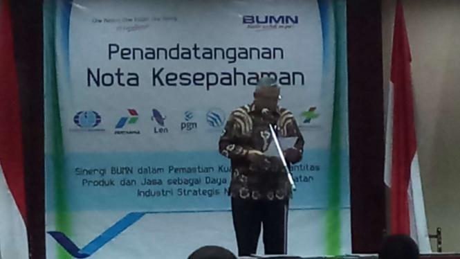 Note Kesepahaman Surveyor Indonesia dengan enam BUMN.