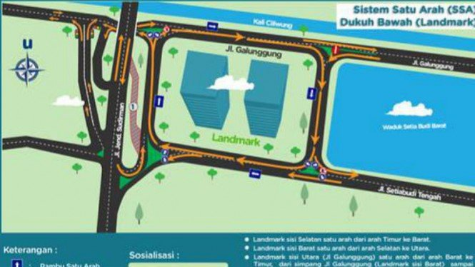 Pemberlakukan sistem satu arah di Dukuh Bawah, Jakarta Selatan