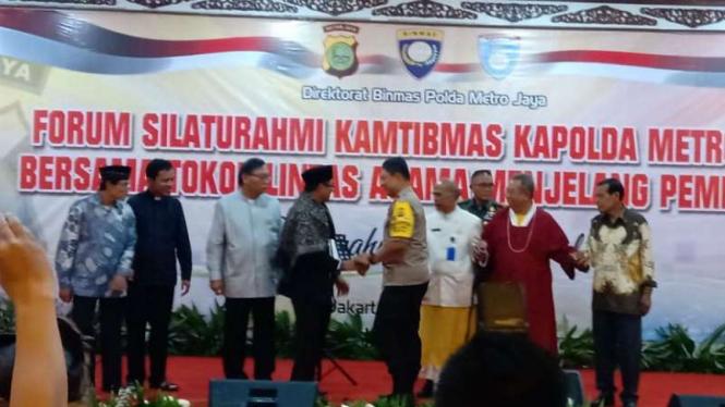Silaturahmi Kapolda Metro bersama tokoh lintas agama.