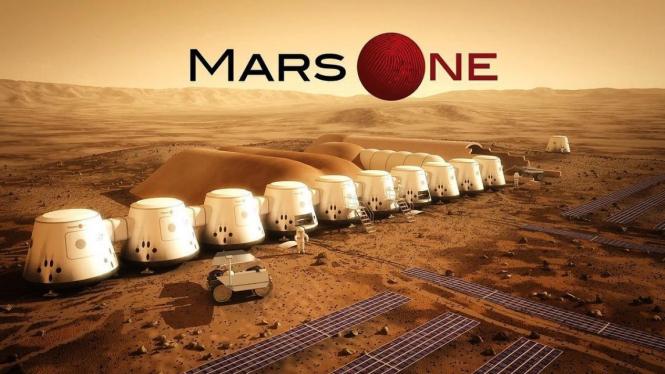 Ilustrasi koloni Planet Mars