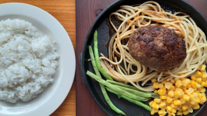 Hamburg Steak di Ishigamaya.