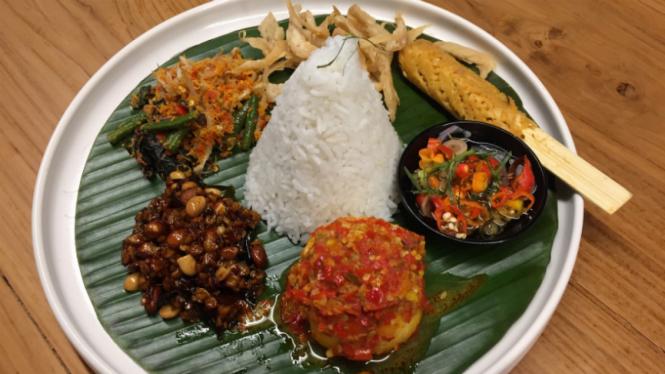 Nasi Bali Vegetarian, salah satu menu di RBOJ.