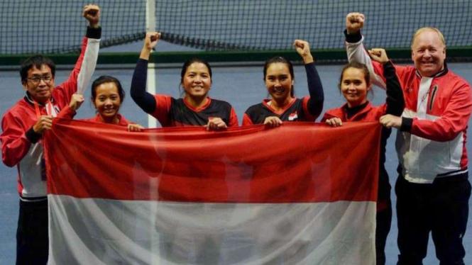 Tim Piala Fed Indonesia sukses bertahan di Grup I Asia/Oceania 2019