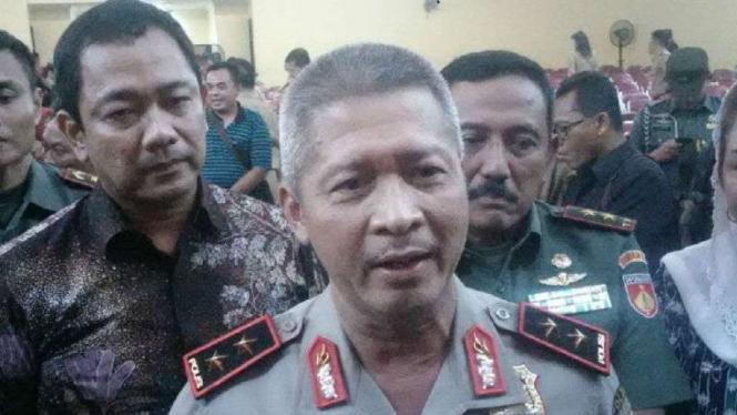 Kepala Polda Jawa Tengah Inspektur Jenderal Polisi Condro Kirono usai menghadiri Rakor Kebencanaan di Semarang, Rabu, 13 Februari 2019.