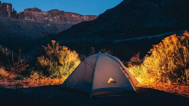Ilustrasi Tempat Camping
