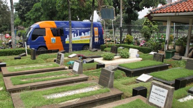 Ilustrasi pemakaman.