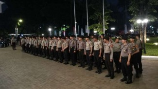 Polisi gelar apel pengamanan di Jakarta beberapa waktu lalu (Foto ilustrasi)