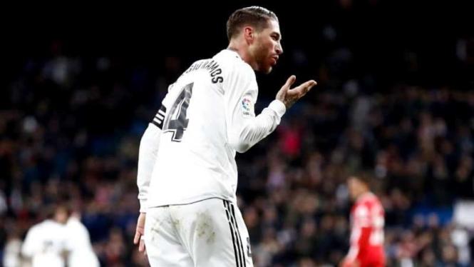 Pemain belakang Real Madrid, Sergio Ramos