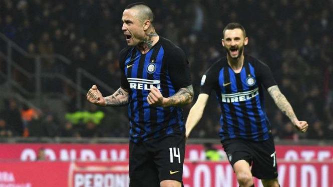 Gelandang Inter Milan, Radja Nainggolan.