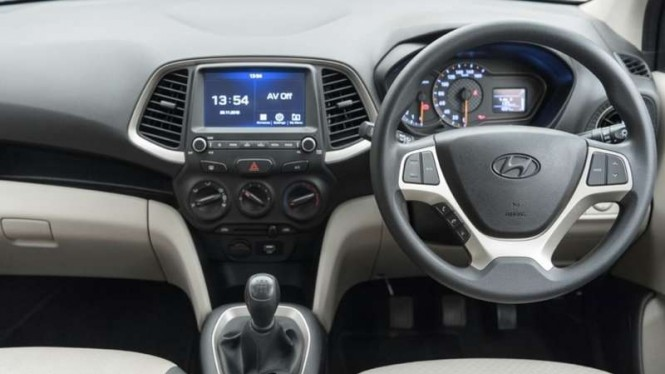 Interior dasbor Hyundai Santro.