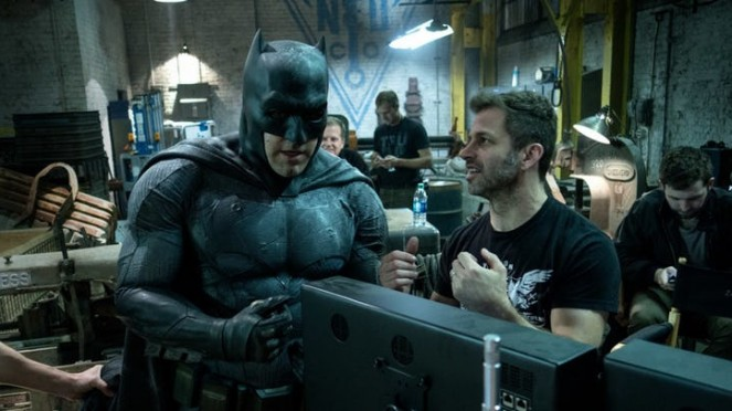 Ben Affleck sebagai Batman dan sutradara Zack Snyder