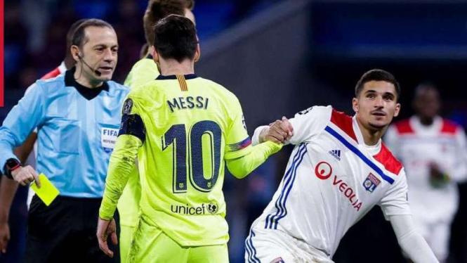 Messi-suarez Tumpul, Barcelona Raih Hasil Seri Di Markas Lyon