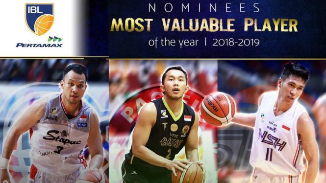 3 pemain nominasi MVP of the Year IBL 2018-2019