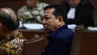 Mantan Ketua DPR Setya Novanto menjawab pertanyaan Jaksa Penuntut Umum (JPU) pada sidang lanjutan kasus dugaan suap proyek PLTU Riau-1 dengan terdakwa Idrus Marham di Pengadilan Tipikor, Jakarta