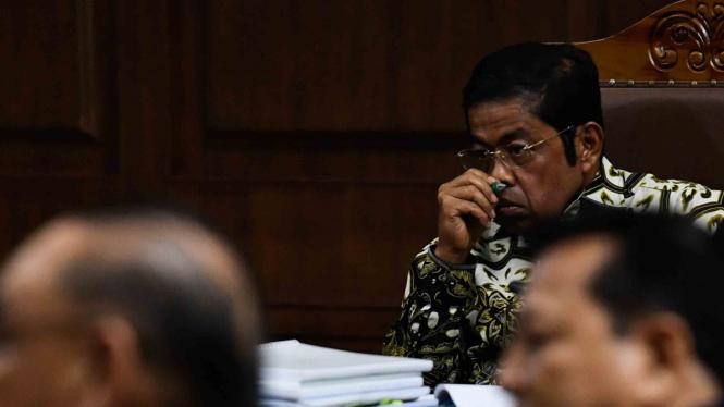 Terdakwa kasus dugaan suap proyek PLTU Riau-1, Idrus Marham