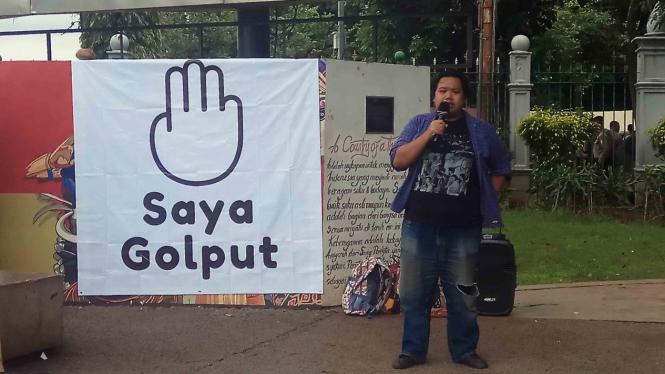 Kampanye Saya Golput di Taman Aspirasi, Monas, Kamis, 21 Februari 2019.
