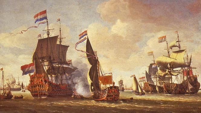 Ilustrasi kapal pertama yang berlabuh di Nusantara/wikimedia.org