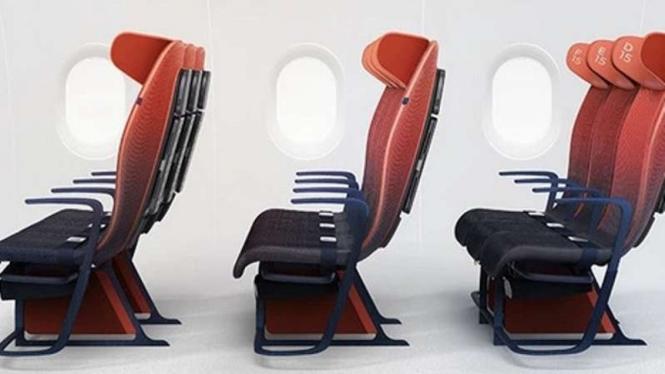 Rancangan kursi pesawat ekonomi