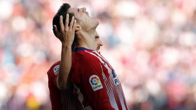 Alvaro Morata berseragam Atletico Madrid.