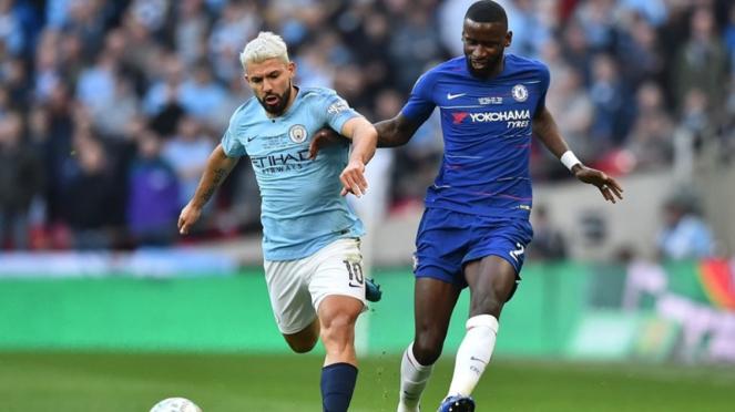 Pertandingan Chelsea melawan Manchester City di final Piala Liga Inggris