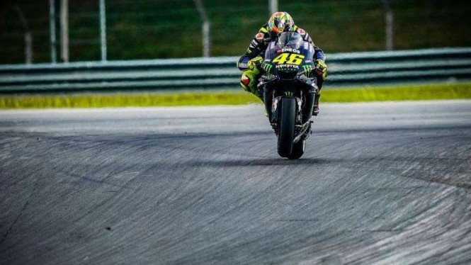 Pembalap Monster Energy Yamaha, Valentino Rossi.