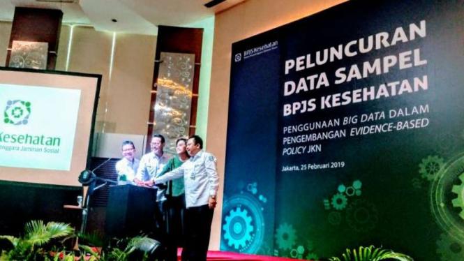 Peluncuran data sampel BPJS Kesehatan.