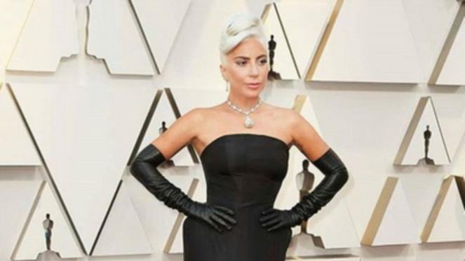 Lady Gaga di karpet merah Oscar 2019