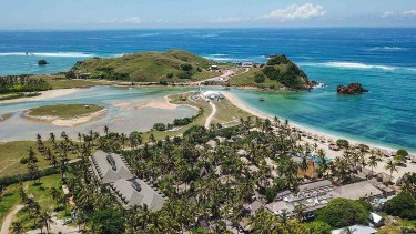 Foto areal pantai bukit Seger Kawasan Ekonomi Khusus (KEK) Mandalika di Desa Kuta, Kecamatan Pujut, Praya, Lombok Tengah, NTB, Minggu, 24 Februari 2019.