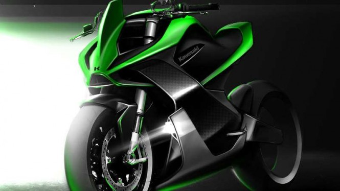 Gambar rekaan Kawasaki Ninja listrik