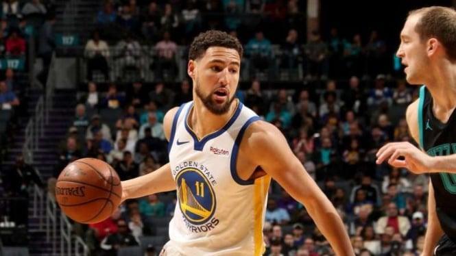 Bintan Golden State Warriors, Klay Thompson dalam laga melawan Charlotte Hornets