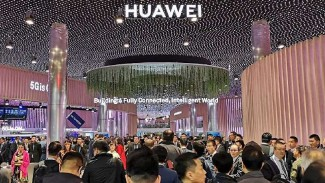 Huawei di Mobile World Congress 2019, Barcelona, Spanyol.
