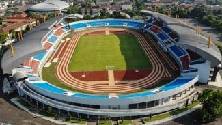 Foto aerial stadion Mandala Krida di Baciro, DI Yogyakarta