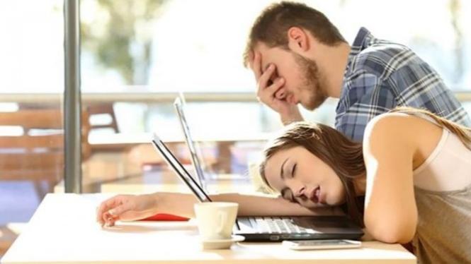 Ilustrasi kelelahan saat beraktivitas.