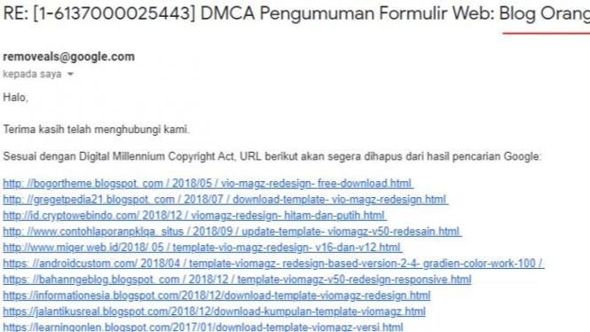 Takedown DMCA
