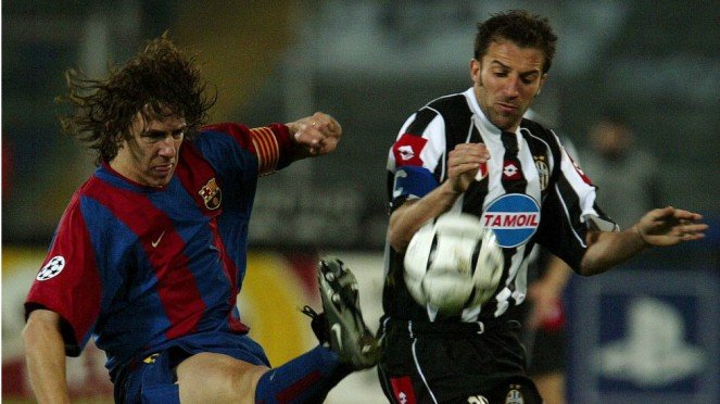 Dua legenda Liga Champions, Carles Puyol dan Alessandro Del Piero