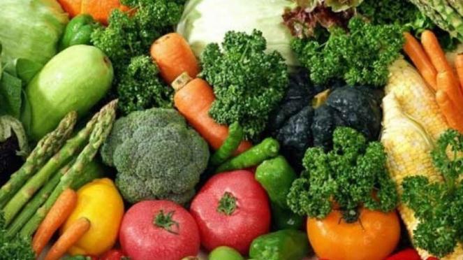 Ilustrasi sayuran organik.