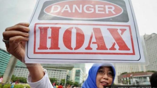 Aksi kampanye anti-hoax di Jakarta beberapa waktu lalu.