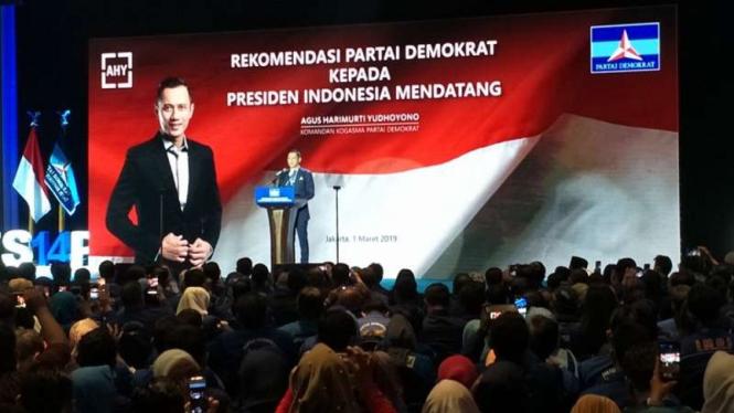 Komandan Komando Satuan Tugas Bersama Partai Demokrat, Agus Harimurti Yudhoyono