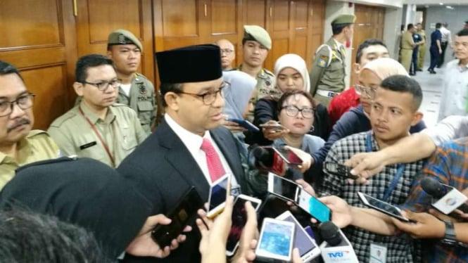 Gubernur DKI Jakarta Anies Baswedan di Balai Kota DKI, 5 Maret 2019.