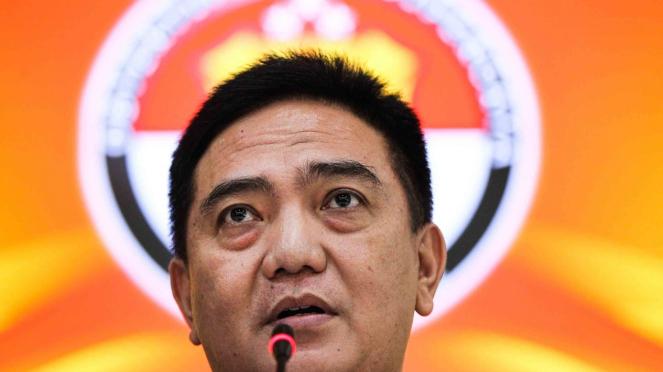 Kepala Divisi Humas Polri Irjen Pol M Iqbal memberikan keterangan terkait penangkapan politisi Partai Demokrat Andi Arief di Mabes Polri, Jakarta