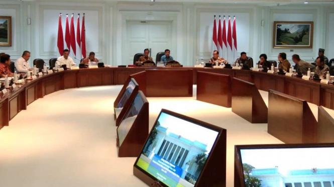 Sidang Kabinet Paripurna membahas Rencana Kerja Pemerintah 2020.