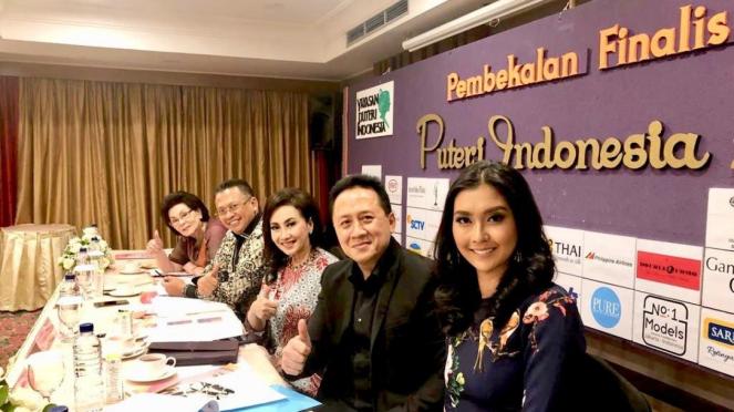 Bamsoet menjadi juri babak penyisihan finalis Puteri Indonesia 2019