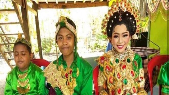 Pernikahan dini dua pasangan bocah di Parepare