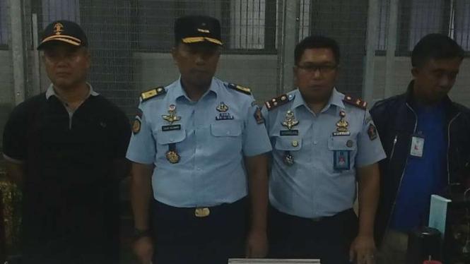 Kepala Rutan Kelas II B Depok, Jawa Barat, Bawono Ika Sutomo (Kedua dari kiri).