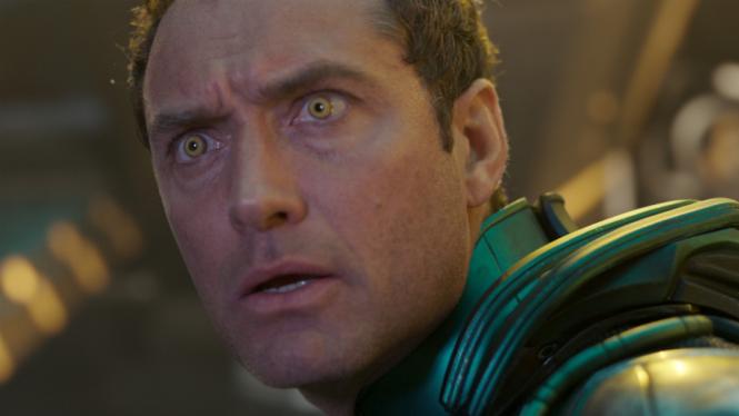 Jude Law di film Captain Marvel.