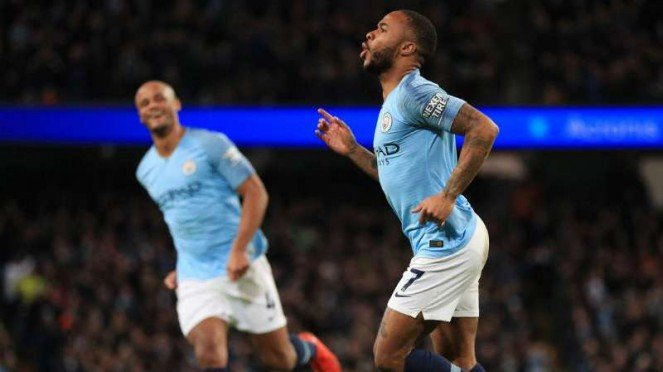 Winger Manchester City, Raheem Sterling.
