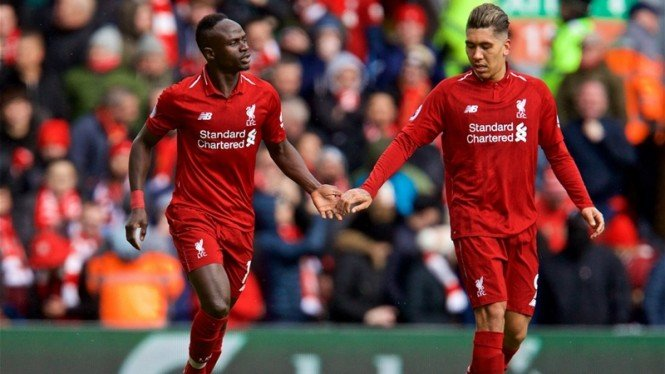 Pemain Liverpool, Sadio Mane dan Roberto Firmino